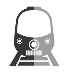 Train icon in black and white colors vector image