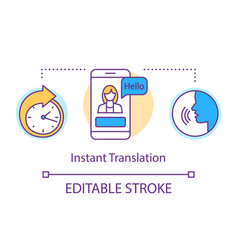 Translation services concept icon instant vector