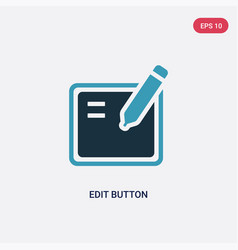 Two color edit button icon from user interface vector