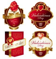 Valentine's frames vector image