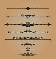 Vintage decorations elements flourishes vector