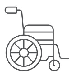 wheelchair thin line icon medical and equipment vector image