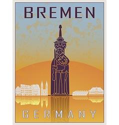 Bremen Vintage Poster vector image vector image