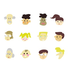 doodle cartoon people icons vector image