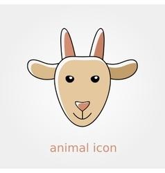 Goat icon Farm animal vector image