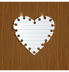paper heart background vector image vector image