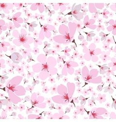 Seamless pattern of pink spring Sakura blossom vector image vector image