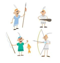 set Indians vector image