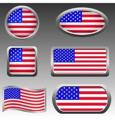 USA icons vector image vector image