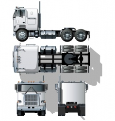vector hide tailed semi truck vector image