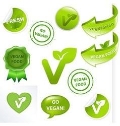Vegan Elements Set vector image