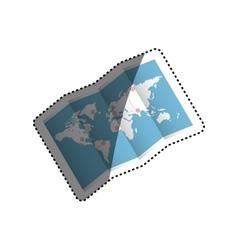 World map travel vector image