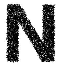 Alphabet n vector