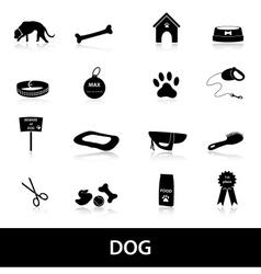 dog icons set eps10 vector image