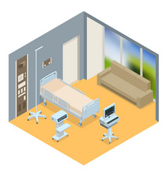 flat 3d isometric interior of vector image vector image