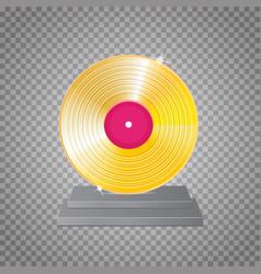 golden vinyl lp gold template design element vector image