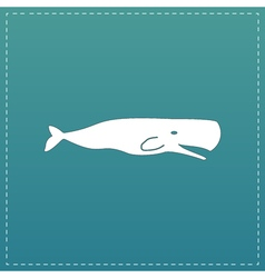 Sperm Whale icon vector image vector image