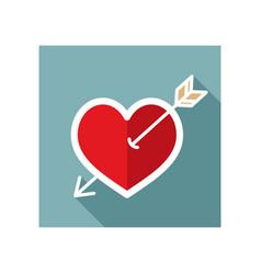 arrow heart icon love sign vector image