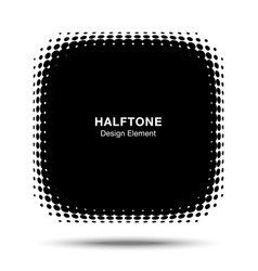 convex halftone distorted angle rounded square vector image vector image