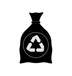 garbage bag cartoon icon vector image
