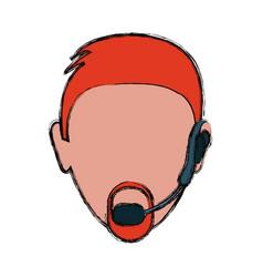 head man vector image