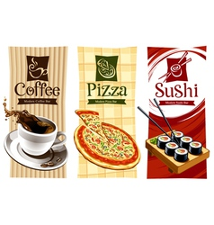 template designs of food banners vector image vector image