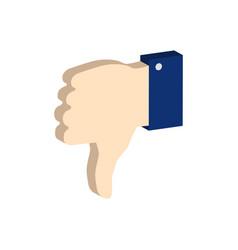 thumb down symbol flat isometric icon or logo 3d vector image