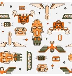 totem elements background vector image