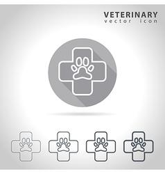 Veterinary outline icon vector