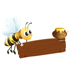 A bee and the empty signage vector image vector image