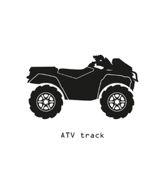 Black silhouette of ATV on a white background vector image