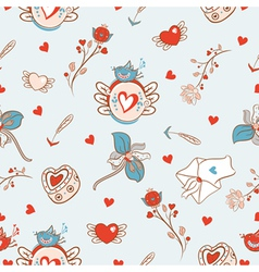 Cartoon pattern for va vector image vector image