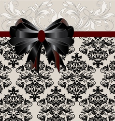 INVITATION CARD ON FLORAL BACKGROUND vector image