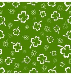 Shamrock seamless pattern vector image vector image