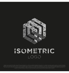 3d Isometric Logo vector