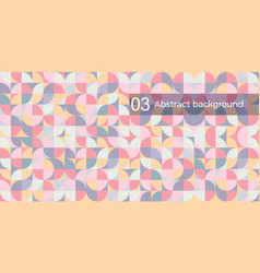 Abstract background geometric round vector