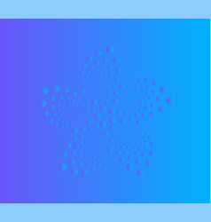 abstract flower dots logo swirl screw vector image