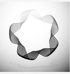 Abstract rounded motif vector