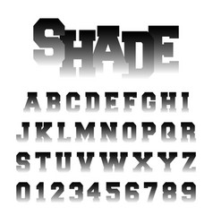 alphabet font shade design vector image
