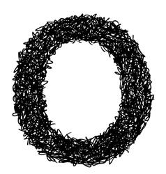 alphabet O vector image