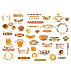 Bakery and pastry isolated design elements vector
