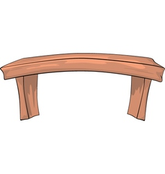 Bench Cartoon vector