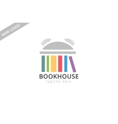 book building template logo icon back to school vector image