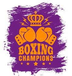 boxing purple vector image