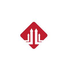 business arrow logo vector image