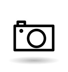 camera editable icon vector image