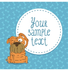 Card background with shar pei vector image