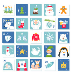 christmas and new year celebration symbols advent vector image