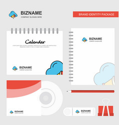 cloud music logo calendar template cd cover diary vector image