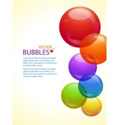colourful bubble background portrait vector image